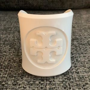Authentic TORY BURCH White Cuff Bracelet